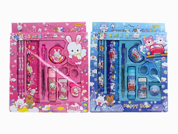Lovely Korean children's gift box 9-piece set of learning gifts