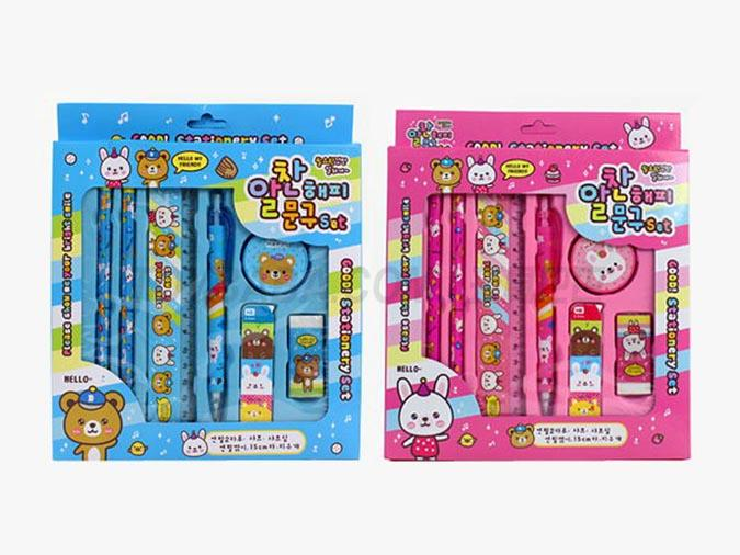Cute bear children's Stationery Set high-end student learning stationery