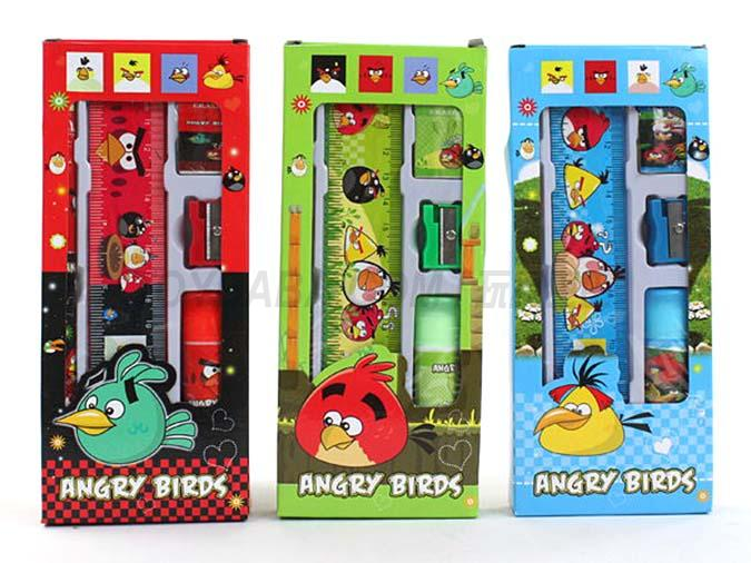 Angry bird stationery set learning stationery combination 5 in 1 learning prize