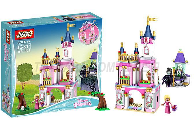 Jie series high JIEGO girl blocks Disney girl sleeping beauty princess fairy tale castle 386 PCS parts