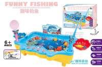 电动钓鱼玩具 粉红、浅蓝2色混装 中文版