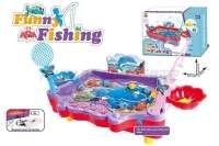 电动钓鱼玩具 大红、紫色2色混装 英文版