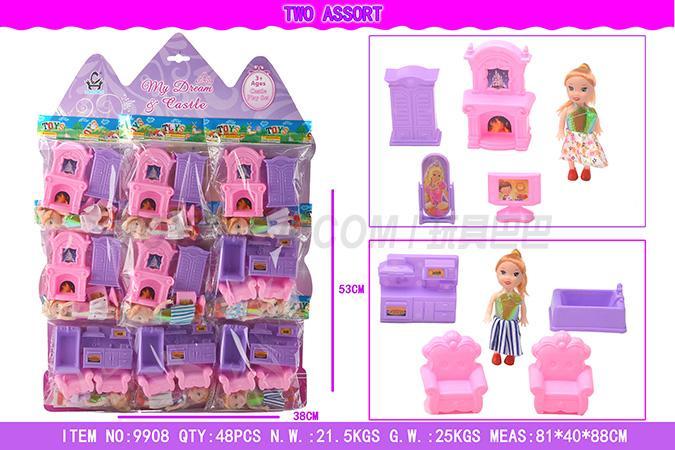 Barbie Castle furniture combination