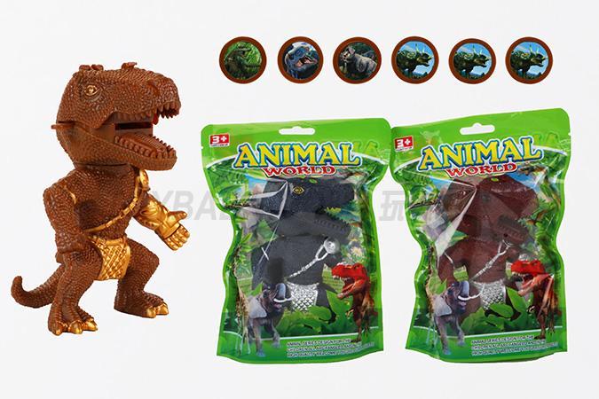 Children's ejection series toy dinosaur warrior launcher