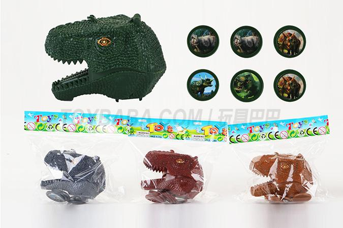 Children's ejection series toy dinosaur hair ejector