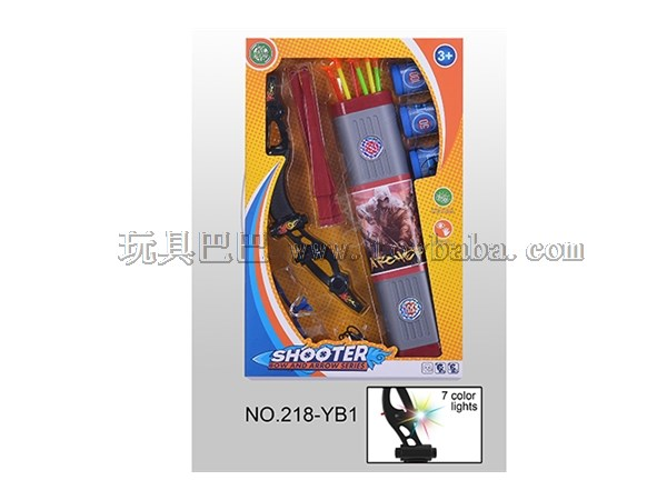 Weapon toy bow and arrow suit colorful lamp