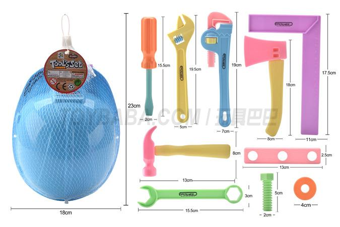 Net bag (tool) building block toy