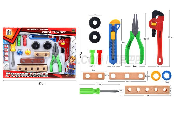 Color box (tool) building block toy