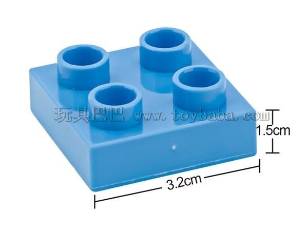Low 4-hole children's puzzle building block accessories