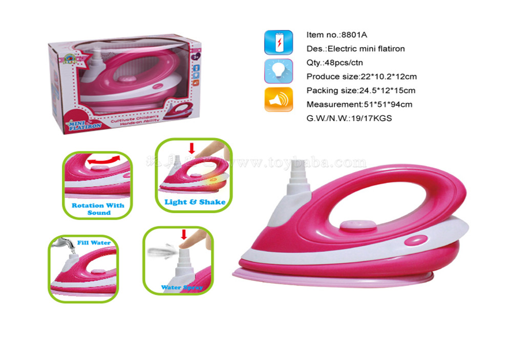 Electric vibrating iron with light toys