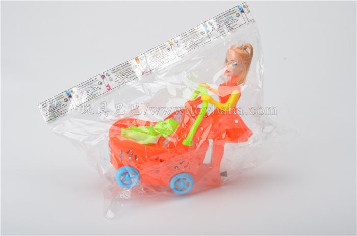 Pull light baby stroller floor stand toy