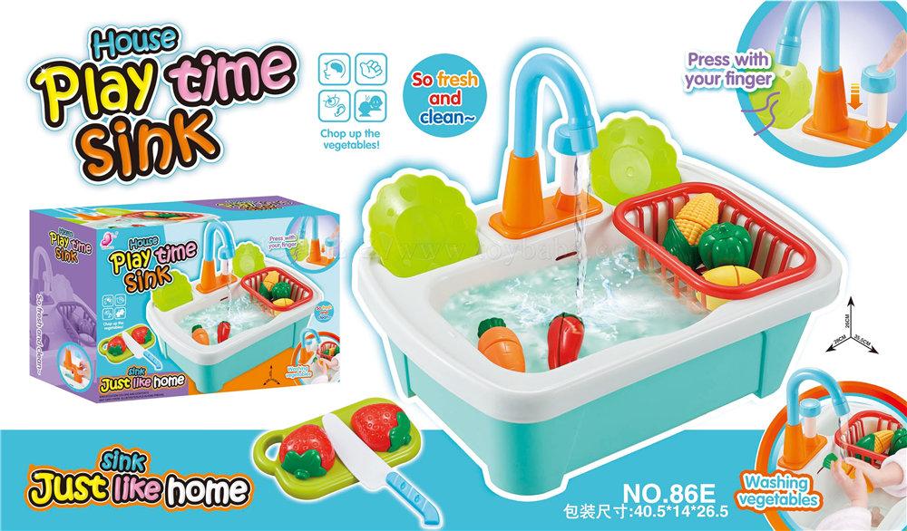 Manual vegetable washing basin
