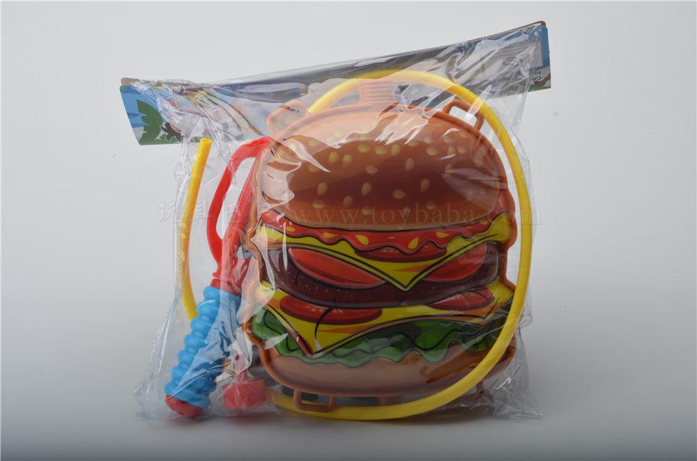 Hamburger backpack water gun