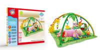 彩虹鹿地毯(音樂帶燈光) 嬰兒地毯 配搖鈴和毛絨