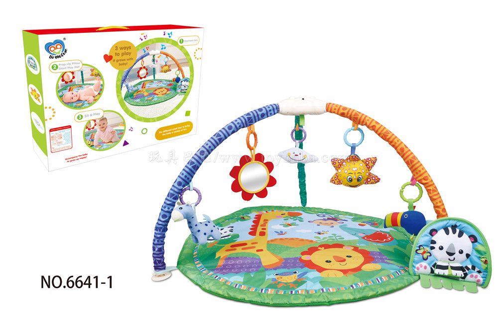 Cartoon music carpet (with music) baby carpet with Bell and plush