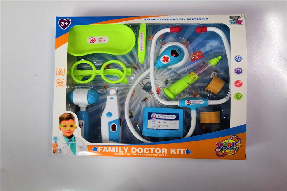 Medical tools men's assembled 10pcs medical tools toys family toys (light, sound, power pack ag10 * 4)