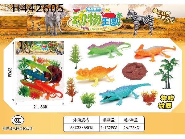 Soft rubber animal (crocodile lizard Paradise)