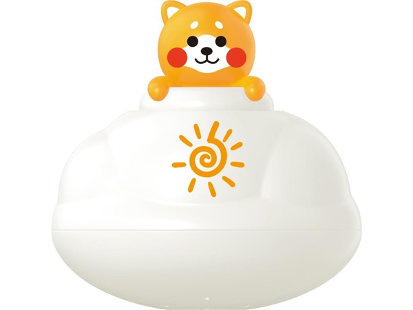 Bathroom floating rain clouds (yellow dog) bath toys