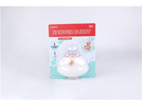 Bathroom floating rain clouds (white cat) bath toys