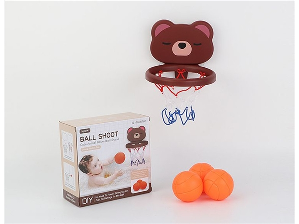 Bathroom basketball box brown bear (3 balls)
