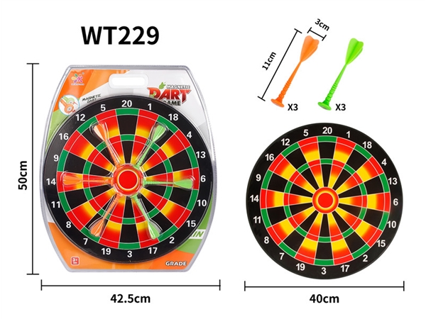 Magnetic dart sports toy