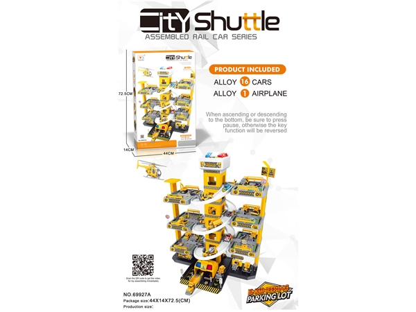90pcs 7-storey engineering parking lot building with alloy car