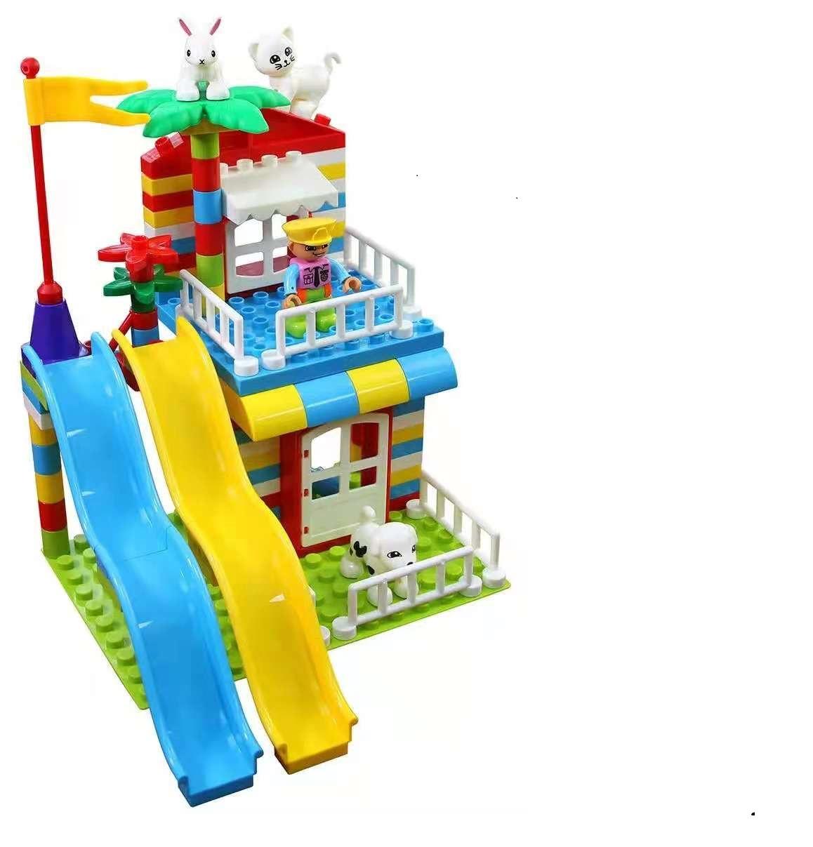 100pcs large particle slide Park building blocks