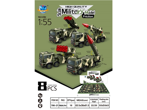 High quality simulated inertial military (8 PCs.)