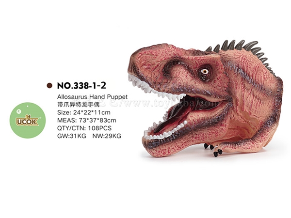 Allosaurus hand puppet with claws
