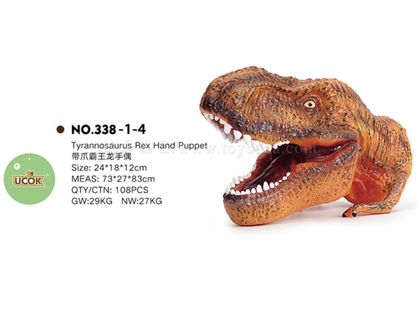 Tyrannosaurus Rex hand puppet with claws