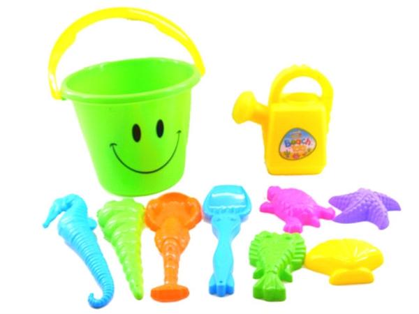 206 smiling face beach bucket combination 2 (10 pieces)