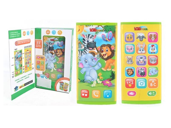English happy animal double-sided screen mobile phone