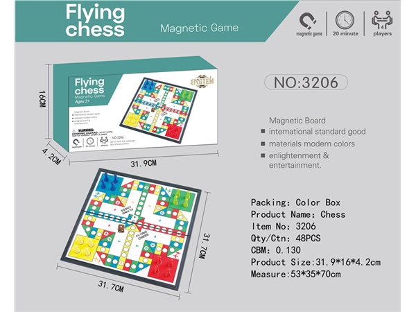 Magnetic aircraft chess