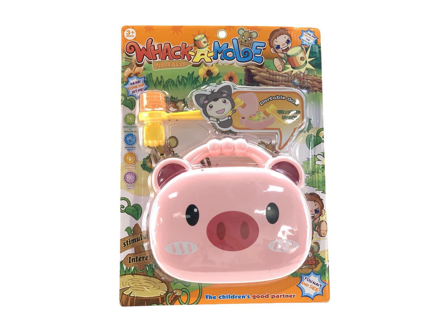Electric music portable pig beating hamster