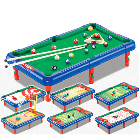 2040 billiards children's table billiards machine table games toys 7-in-1 multifunctional billiards table parent-child i