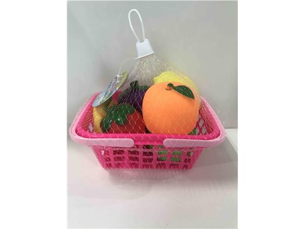 水果篮装搪胶水果