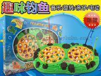 厂家直销 NO.2816大树钓鱼 电动/音乐/旋转/亲子  热销儿童玩具