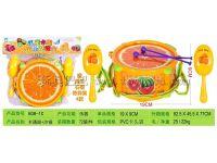 水果卡通鼓+沙锤