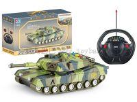 四通方向盘遥控军事坦克3D灯光音乐配充电器
