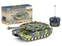 四通遥控坦克带3D灯光音乐配充电器