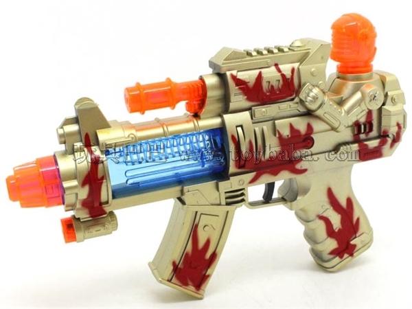喷漆电动玩具枪带灯光音乐