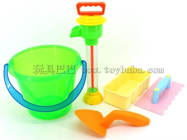 透明桶沙滩组合(5PCS)