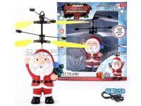 红外线感应飞行圣诞老人配USB线