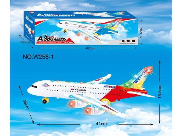 特大号A380万向灯光音乐飞机