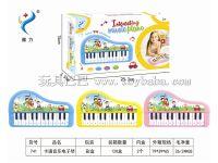 24键卡通电子琴英文 粉红、粉蓝、黄混装