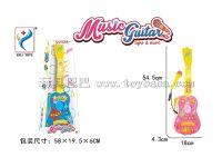 音乐灯光吉他带麦克风 粉红、粉蓝混装
