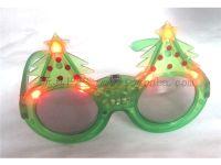 闪光圣诞树眼镜