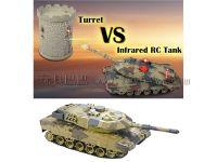 遥控坦克.坦克对战炮台塔1:24