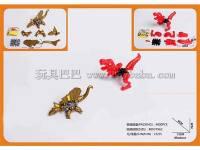 拼装恐龙玩具 益智拼装玩具 2色混装