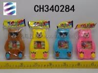卡通熊水机 儿童益智游戏水机玩具 4色混装 地摊玩具批发